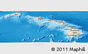 Shaded Relief Panoramic Map of Hawaii