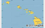 Savanna Style Simple Map of Hawaii