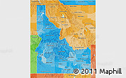 Political Shades 3D Map of Idaho