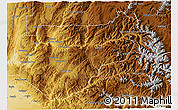 Physical 3D Map of Boise County