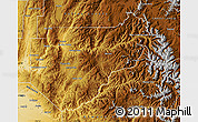 Physical Map of Boise County