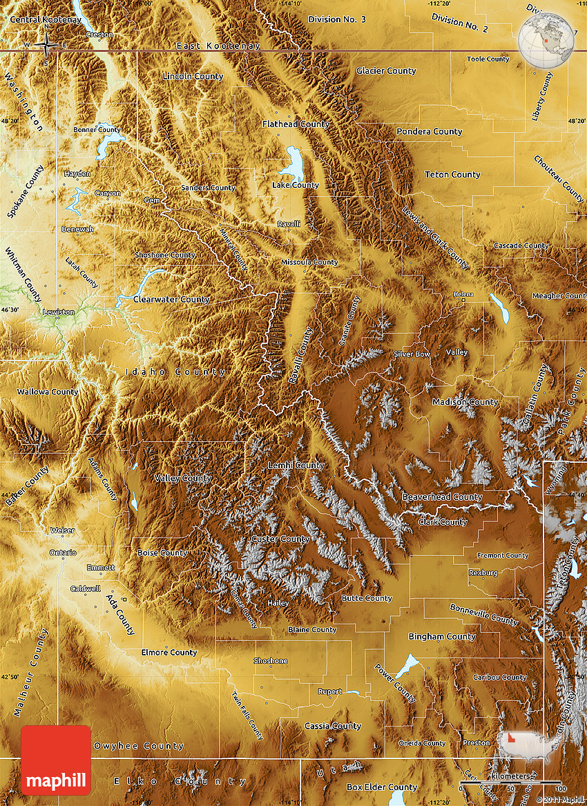 Physical Map of Idaho on political map of idaho, cities and towns in idaho, landforms in idaho, general map of idaho, land features of idaho, topological map of idaho, physical features of idaho, world map of idaho, national flower of idaho, topography of idaho, geography of idaho, physical map southeast united states, map showing counties of idaho, detailed map of idaho, product map of idaho, agricultural map of idaho, rivers of idaho, large map of idaho, street map of kamiah idaho, topographical map of idaho,