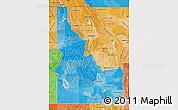 Political Shades Map of Idaho