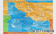 Political Shades Panoramic Map of Idaho