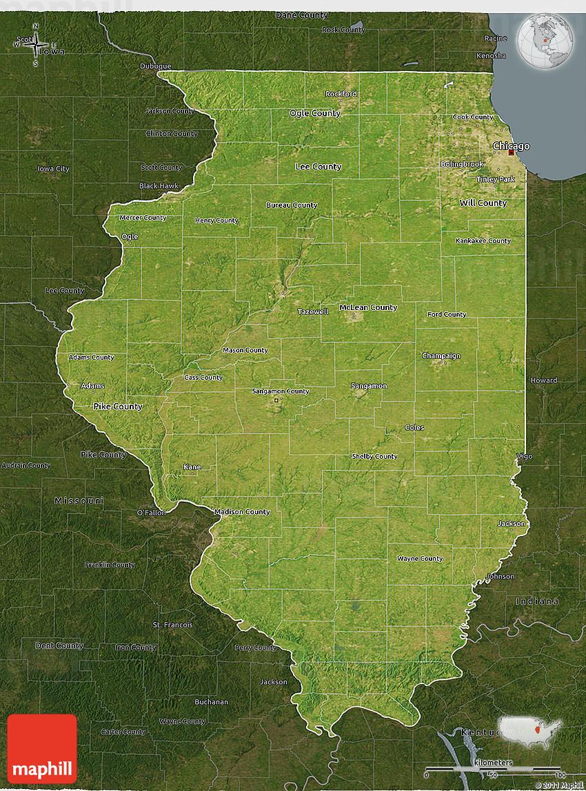 USA Legend Map NASA Satellite Maps Show Human Fingerprint On - Chicago map satellite