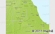 Physical 3D Map of Cook County