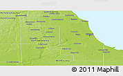 Physical Panoramic Map of Cook County