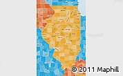 Political Shades Map of Illinois
