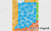 Political Shades 3D Map of Indiana