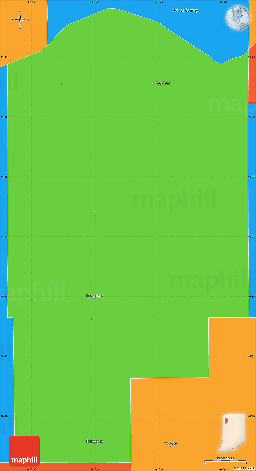 Indiana jasper county tefft - 2d