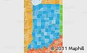 Political Shades Map of Indiana