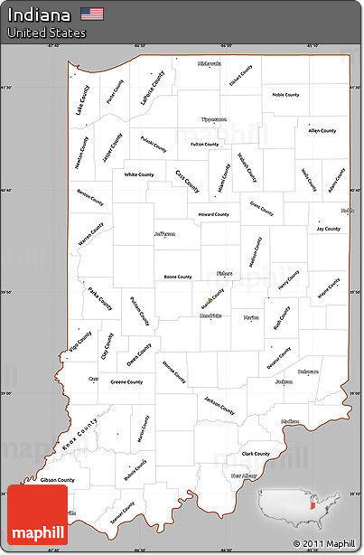 Free Gray Simple Map of Indiana, cropped outside Indiana On A Map on new south wales on a map, butler on a map, st. simons on a map, indiana flag, chicago on a map, lowell on a map, missoula on a map, dearborn on a map, kankakee on a map, harrisburg pennsylvania on a map, friendswood on a map, coosa river on a map, indiana on us map, franklin county on a map, brown county on a map, guangxi on a map, plains indians on a map, south williamsport on a map, kokomo on a map, vanderbilt on a map,