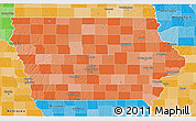 Political Shades 3D Map of Iowa