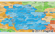 Political Shades Panoramic Map of ZIP codes starting with 515