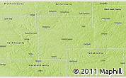 Physical 3D Map of Grundy County