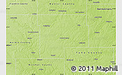 Physical Map of Grundy County