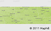 Physical Panoramic Map of Grundy County
