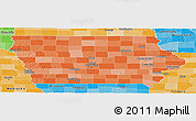 Political Shades Panoramic Map of Iowa