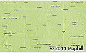 Physical 3D Map of Wright County