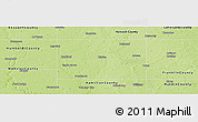 Physical Panoramic Map of Wright County