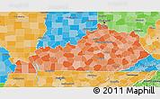 Political Shades 3D Map of Kentucky