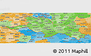 Political Shades Panoramic Map of ZIP codes starting with 410