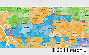 Political Shades 3D Map of ZIP codes starting with 422