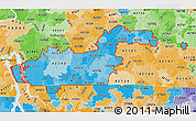 Political Shades Map of ZIP codes starting with 422