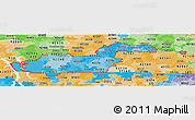 Political Shades Panoramic Map of ZIP codes starting with 422