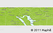 Physical Panoramic Map of Lyon County