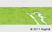 Physical Panoramic Map of Marshall County
