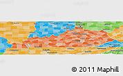 Political Shades Panoramic Map of Kentucky