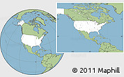 Blank Location Map of United States, savanna style outside