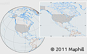 Gray Location Map of United States, lighten, semi-desaturated