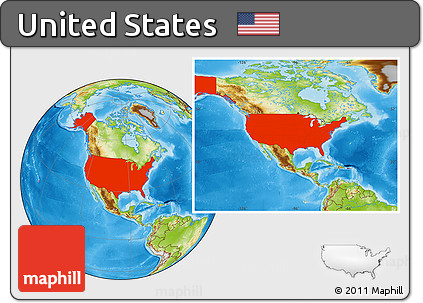 Free Physical Location Map Of United States - Us map physical