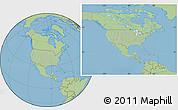 Savanna Style Location Map of United States, hill shading inside