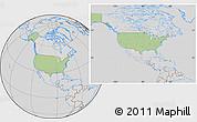 Savanna Style Location Map of United States, lighten, desaturated