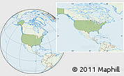 Savanna Style Location Map of United States, lighten