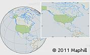Savanna Style Location Map of United States, lighten, semi-desaturated