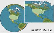 Savanna Style Location Map of United States, satellite outside
