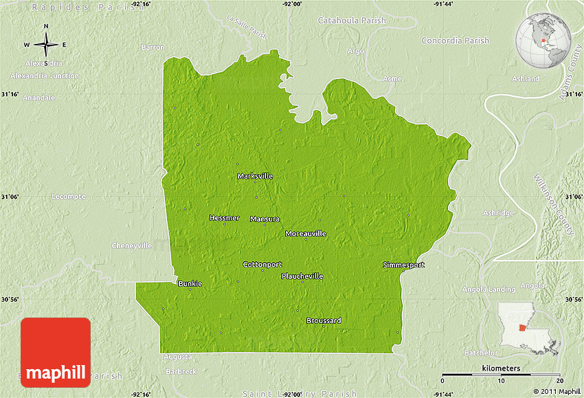 Populated places in Avoyelles Parish, Louisiana