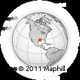 Outline Map of Cameron Parish