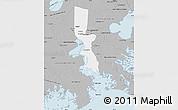 Gray Map of Jefferson Parish