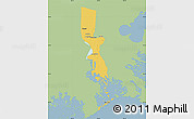 Savanna Style Map of Jefferson Parish, single color outside