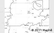 Blank Simple Map of Madison Parish