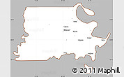 Gray Simple Map of Madison Parish, cropped outside