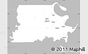 Gray Simple Map of Madison Parish, single color outside