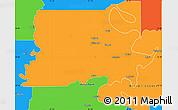 Political Simple Map of Madison Parish