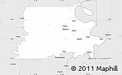 Silver Style Simple Map of Madison Parish