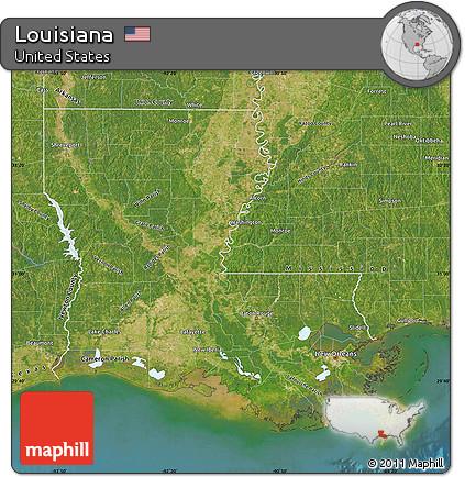 Free Satellite Map Of Louisiana